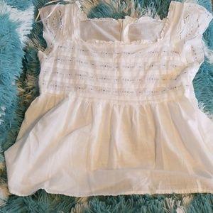 Izod cotton babydoll shirt